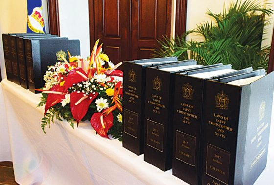 Successful Revision and Publication of 2017 Laws of St. Christopher and Nevis